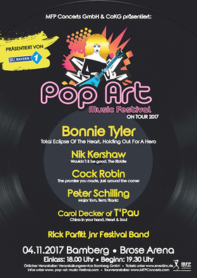 Bild: Pop Art Music Festival - Bonnie Tyler, Nik Kershaw, Cock Robin, Peter Schilling