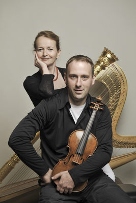 Bild: Bad Saarower Kammermusik Konzerte - Florian Mayer (Violine) - Astrid von Brück (Harfe)