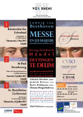 Bild: Händel: Dettinger Te Deum; Beethoven: Messe C-Dur