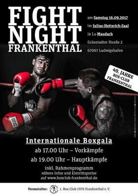 Bild: Internationale Boxgala des 1.Box-Club Frankenthal