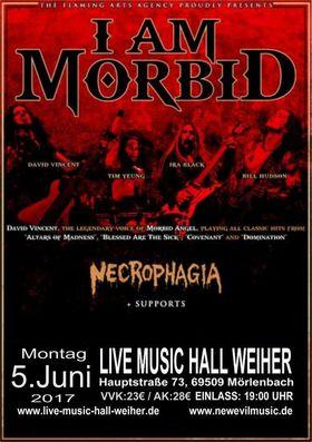 Bild: I Am Morbid - European Tour 2017 - Supprt: Necrophagia + 2 Opener