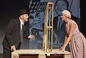 Bild: We shall overcome - Pete Seeger - Theater Melchingen