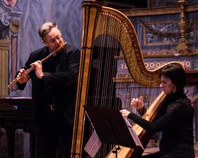 Bild: Giuseppe Nova (Flöte) & Marta Facchera (Harfe) - Italienische Nacht