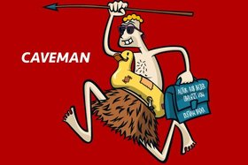 """Bild: Caveman - """"Du sammeln , ich jagen"""""""