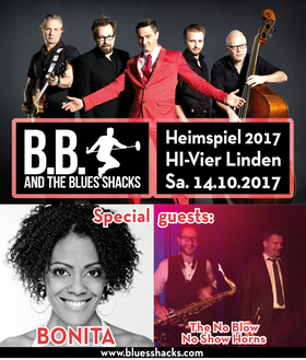 Bild: B.B. & The Blues Shacks Heimspiel 2017 - with No Blow - No Show - Horns, special guest BONITA