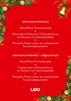 Bild: LIDO Weihnachtsmenü