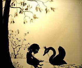 Bild: Die wilden Schwäne