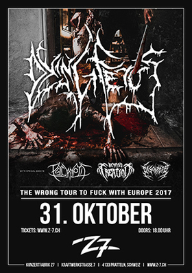Bild: DYING FETUS - THE WRONG TOUR TO FUCK WITH EUROPE 2017