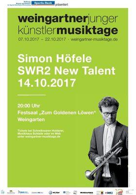 Bild: SWR2 New Talent: Simon Höfele, Trompete