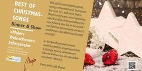 Bild: Best of Christmas Songs Dinner&Show - in Schriesheim