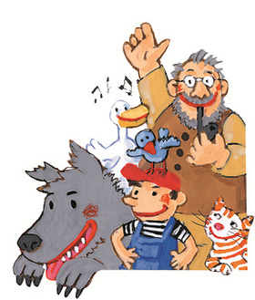 Bild: PETER UND DER WOLF   (deutsch – arabisch)