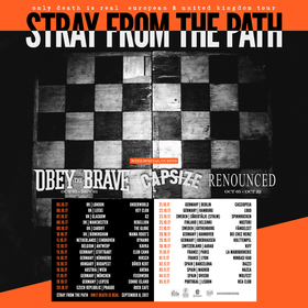 Bild: STRAY FROM THE PATH – Only Death Is Real European Tour 2017