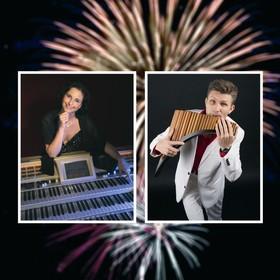Bild: Ein Sommernachtstraum - Claudia Hirschfeld (Wersi-Orgel) und David Döring (Panflöte)