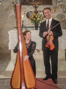 Bild: Rätselkonzert mit Violine und Harfe