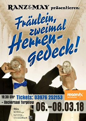 """Bild: """"Fräulein, zweimal Herrengedeck!"""""""