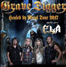 Bild: GRAVE DIGGER + special guest: ELA - Healed by Metal Tour 2017