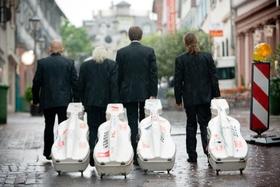 Bild: Rastrelli Cello Quartett - Kira Kraftzoff, künstlerischer Leiter; Sergio Drabkin, Kirill Timofeev, Misha Degtjareff