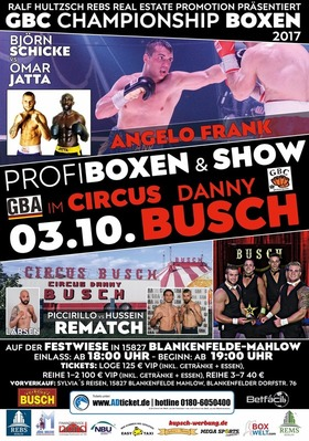 Bild: GBC Championship 2017 - Profiboxen & Show im Zirkus Danny Busch