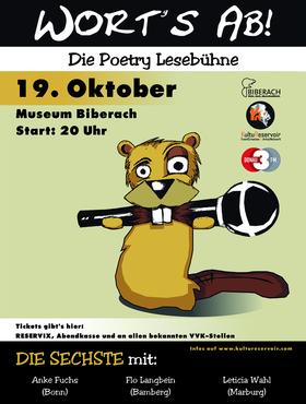 Bild: Wort´s ab! Die Sechste - Poetry Lesebühne im Museum Biberach