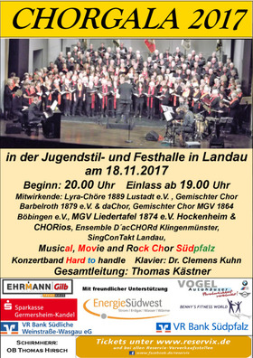 Bild: ChorGala 2017 - Musical, Movie and more...
