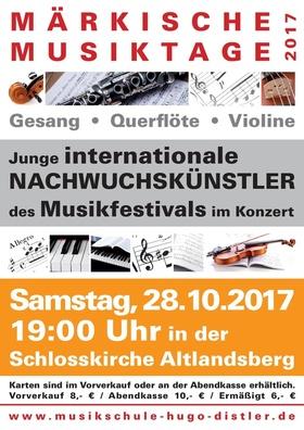 Bild: Märkische Musiktage 2017 - Musikfestival der Musikschule Hugo Distler