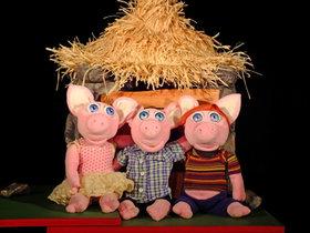 Bild: Die drei kleinen Schweinchen