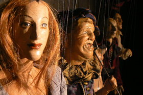 Bild: Lange Figurentheater-Nacht: (1) Faust u. (2) Heiße Wammer