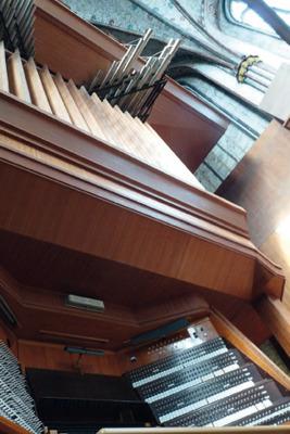 Bild: Lübecker Abendmusik - Didier Ledoux (Organist der Cathedrale La Rochelle) an beiden Orgeln