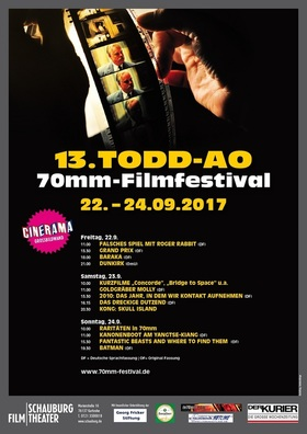 Bild: 70mm Todd-AO Festival: Weekend Pass 22. - 24.09.17 (all three days) für alle drei Tage