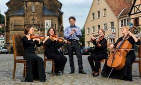 Bild: Streichquartett der Elbland Philharmonie Sachsen
