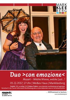 """Bild: Duo >con emozione< - """"Welche Wonne, welche Lust…!"""""""