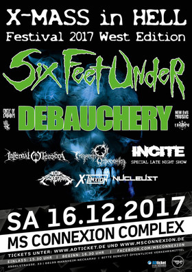 Bild: X-Mass In Hell Festival 2017 - West Edition - Six Feet Under + Debauchery + 6 weitere Bands