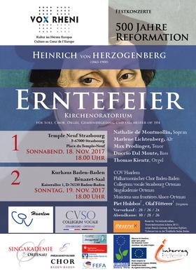 Bild: Erntefeier op.104 - Heinrich von Herzogenberg - COV, CVSO, PCB, SAO, MSFAO
