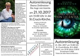 Bild: Deana Zinßmeister: Das Auge von Licentia - Jugendbuch ab 12 Jahren