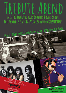 Bild: Nacht der Stars - Die Tribute Show - The Original Blues Brothers Double Show, Phil Dexter` s  Elvis Las Vegas Show und KISSIN'TIME