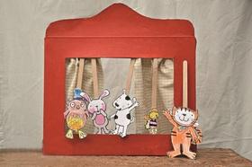 Bild: Puppentheater im Schuhkarton