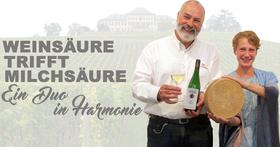 Bild: Weinsäure trifft Milchsäure - Wein-und Käseprobe