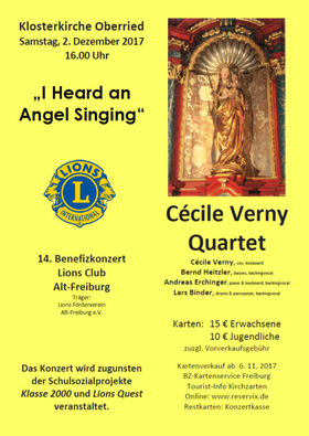 Bild: Cécile Verny Quartet - 14. Benefizkonzert Lions Club Alt-Freiburg