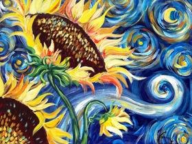 Bild: Artmasters - Paint-Party - Vincent Starry Night & Sun Flowers