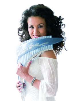 Bild: Daniela dé Santos -Königin der Kristallpanflöte