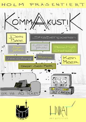 Bild: KommAkustik Festival 2017 - Straßenpoeten, Domi Bade, Romie & viele mehr