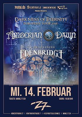 Bild: AMBERIAN DAWN + EDENBRIDGE - Darkness of Eternity Tour 2018