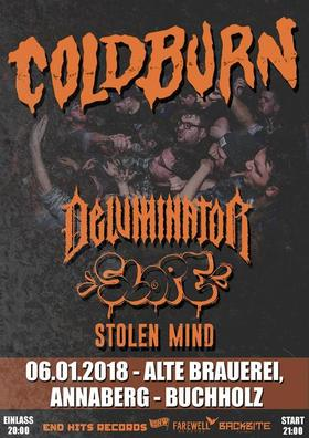 Bild: Hardcore opening 2018 - Coldburn, Deluminator, Slope & Stolen mind