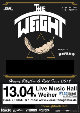 "The Weight & Wolvespirit - Co-Headliner ""Heavy Rhythm & Roll Tour 2018"""