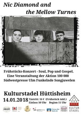 Bild: Nic Diamond and the Mellow Tunes - Konzert und Brunch - Soul, Pop und Gospel