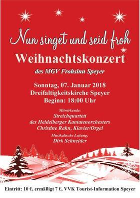 Bild: Nun singet und seid froh - Weihnachtskonzert des MGV Frohsinn Speyer