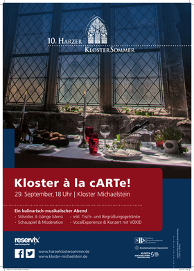Bild: Kloster à la cARTe: Ein exklusives Erlebnis besonderer Art