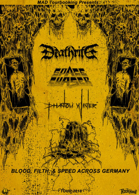 Deathrite, Space Chaser, Phantom Winter - Blood, Filth & Speed across Germany