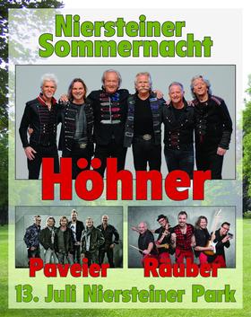 Bild: Niersteiner Sommernacht - Höhner, Räuber und Paveier im Stadtpark Nierstein