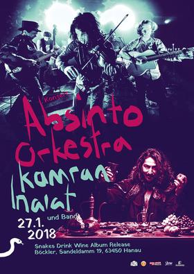 Bild: Snakes Drink Wine Album Release - Kamran Inaiat und Band / Absinto Orkestra